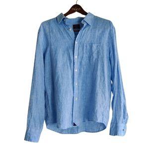 Untuckit Men's Linen Long Sleeve Shirt